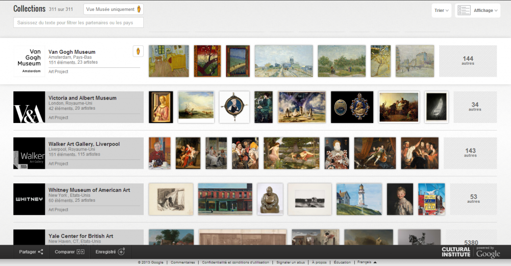 Google Art Project, version 2013